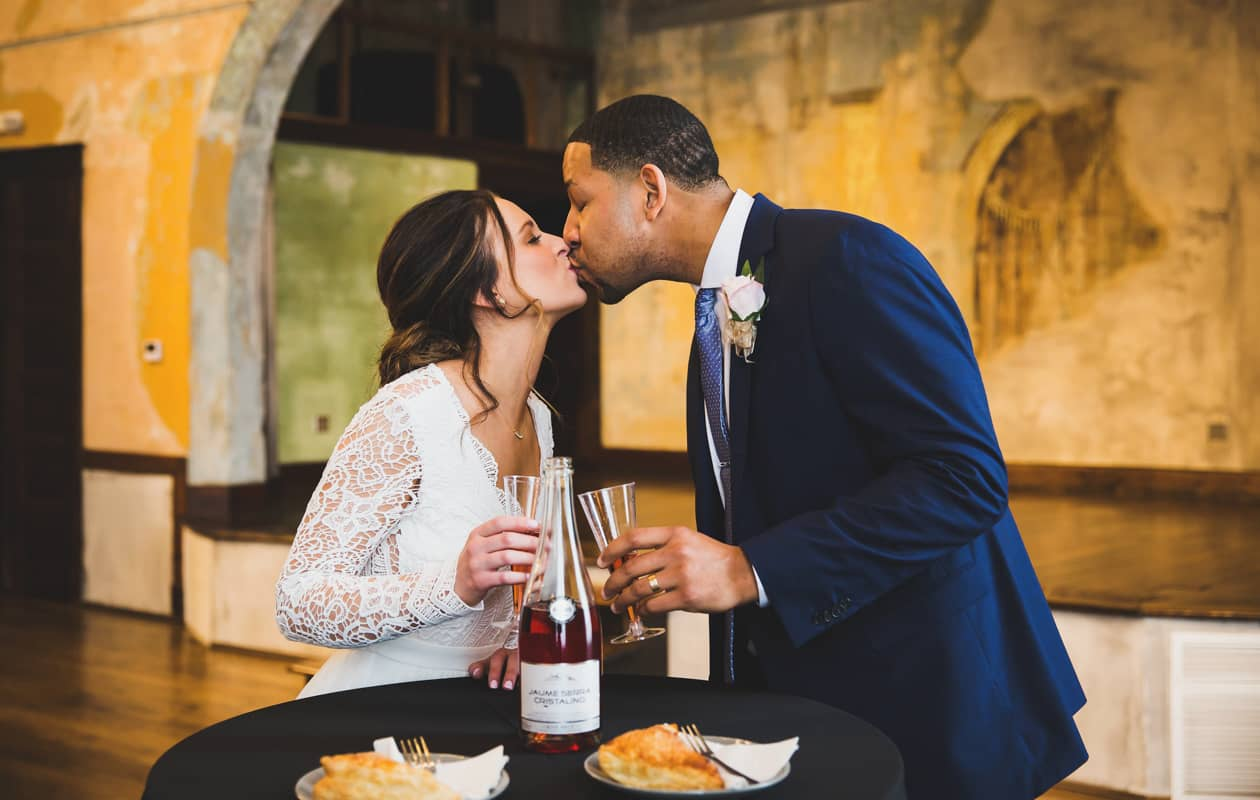 Intimate Indianapolis elopement at the Neidhammer