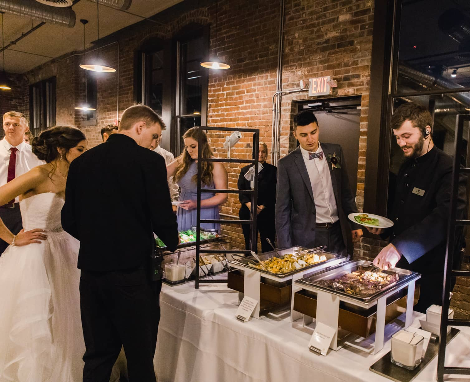 Premium catering at a wedding at the Neidhammer in Indianapolis