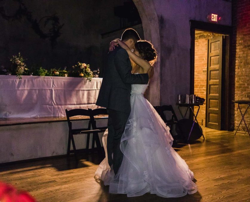 Bride and groom have the last dance