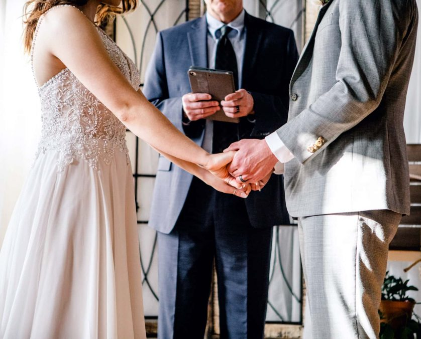 Ceremony with Pastor at an Indianapolis wedding venue